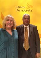 Photo of Cllrs David Rundle and Ruth Wilkinson