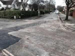 Temporary surface at All Saints Road