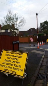 First road closure in All Saints Road